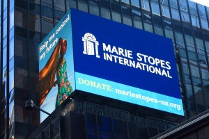 A Marie Stopes International billboard in Times Square in New York City | Facebook/MSI Reproductive Choices